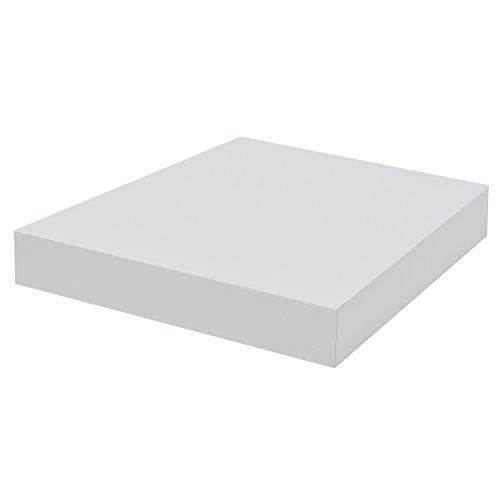 Duraline schwebendes Wandregal, Weiß, 38x 23,5x 23,5cm