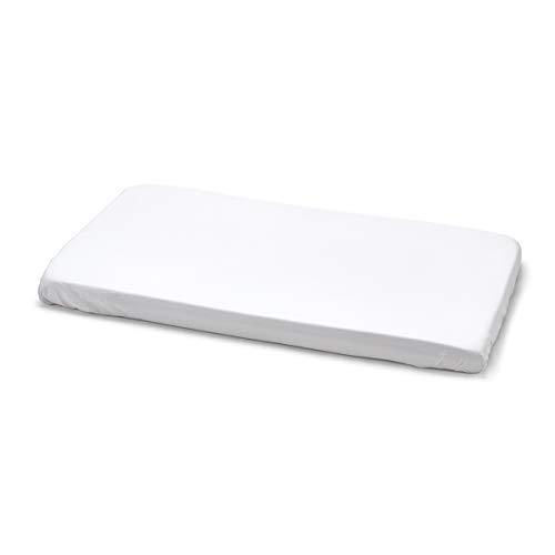 Cambrass Liso E - Sábana ajustable algodón para minicuna, 50x82x10 cm, color blanco