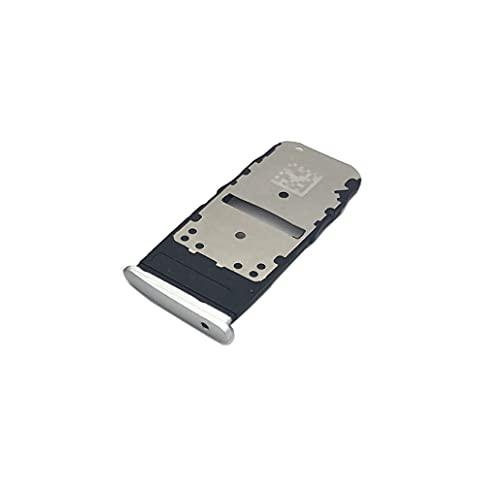 Nuevo Adaptador de Tarjeta SIM para Moto One Zoom Micro SD Card Tray Holder Phone Repuestos (Blanco)