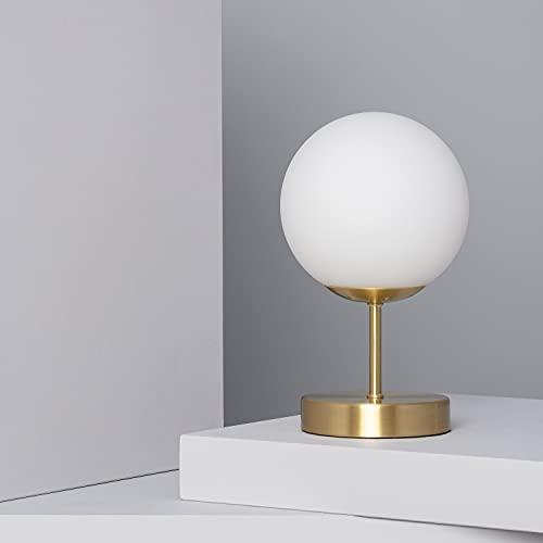 LEDKIA LIGHTING Lampada da Tavolo Moonlight 250xØ150 mm Bianco E14 Alluminio per Sale, Soggiorno, Cucina, Camera