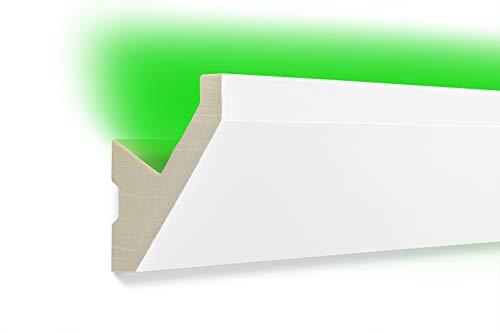 2 Meter | LED Profil | indirekte Beleuchtung | Stuck | lichtundurchlässig | stoßfest | Leiste | wetterbeständig | 65x65mm | LED-14