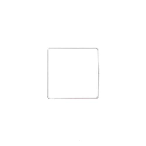 CRAFTY CAPERS 20cm White Metal Square Ring - Hoop for Crafts & Floristry