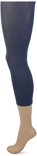 FALKE Damen Cotton Touch W LE Leggings, Blickdicht, blau (Atlantic 6535), S-M