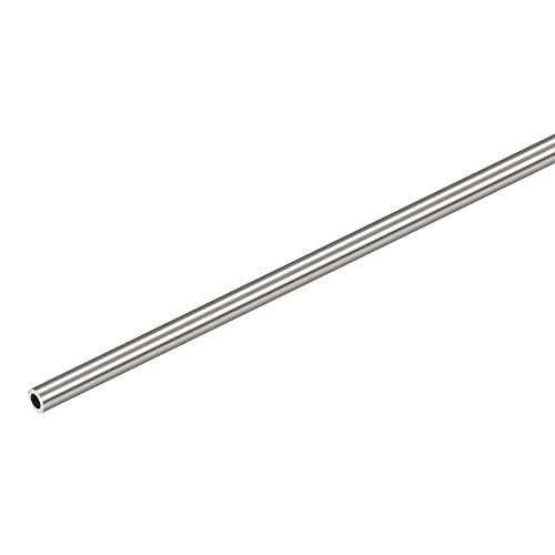 sourcing map 304 Inoxidable Acero Redondo Tubo 5mm OD 1mm Pared Grosor 300mm Longitud