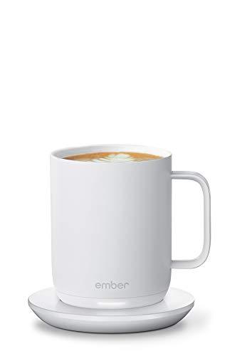 Ember Smart Mug 2 Thermobecher, 1,5 Stunden Akkulaufzeit, App-gesteuerter beheizter Kaffeebecher, verbessertes Design, 296 ml, Schwarz