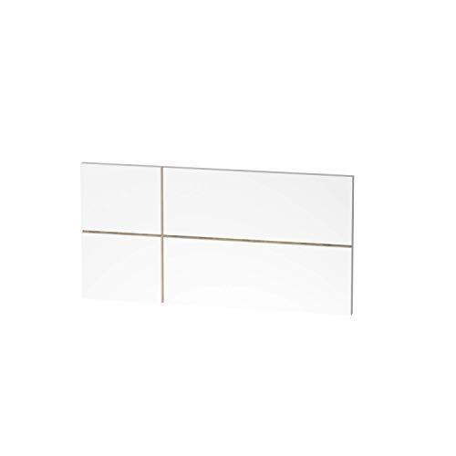 Muebles Pitarch Elsa Cabecero, Aglomerado de partículas y melanina de Alta Densidad, Blanco/Fondo Cambrian, 50 x 100 x 3.2 cm
