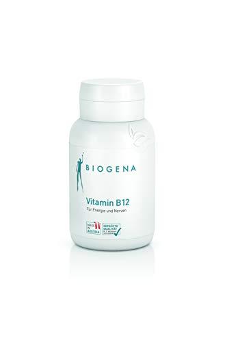 BIOGENA Vitamin B12 - Pura y concentrada – Con un alto contenido de la vitamina B12 hidrosoluble en forma de hidroxocobalamina - Calidad austriaca - Principio de sustancia pura