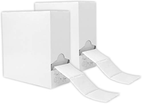 Doppelpack 250er Packung/Rolle Zelletten im neutralen Spenderkarton [2x 250 Stück]