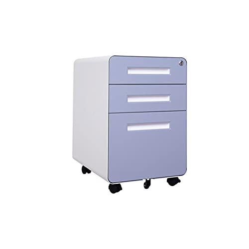 XYJHQEYJ Archivo gabinetes de metal gabinete de metal 3 capas archivador con cajones de bloqueo cajas de archivos de almacenamiento archivadores para el gabinete de la oficina del gabinete del gabinet
