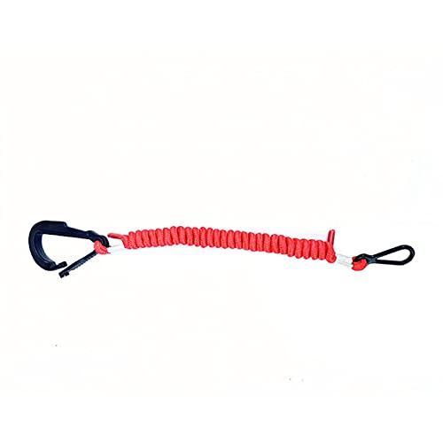 15920Q54 Interruptor Llave Motor Stop Fácil Instalar Barco Seguridad Lanyard Para Mercuryand, 39 Pulgadas/100cm Largo (Rojo)