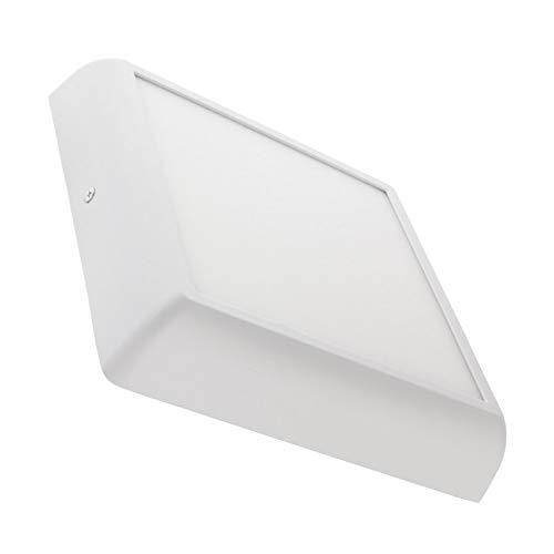 LEDKIA LIGHTING Plafón LED 18W Cuadrado Design White Blanco Neutro 4000K - 4500K