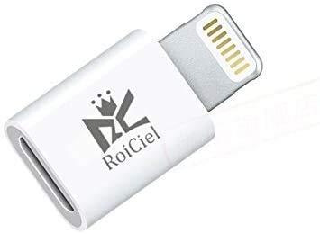 RoiCiel (グリティーシーリズ)プレミアムライトニング変換アダプタiPhone iPad iPod AirPods 互換対応 充電と高速データ転送Micro to Lightning USB Adapter 8pin Lightning 変換コネクタ