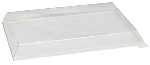 Clear Plastic Lid (Case of 50), PacknWood - Recyclable Tray Cover for (210SAMBQ274) Wooden Trays (10.7' x 14.9' x 1.2') 210SAMLT274