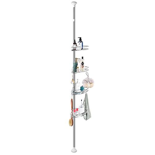 Wakects - Estante de ducha telescópico de 4 capas, fácil de montar, práctico estante de ducha para el baño, para champú, baño