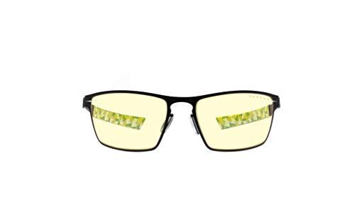 Gafas GUNNAR para juegos y ordenador | ESL Blade, Onyx Frame | Lente patentada, 65% de protección de luz azul, 100% de luz UV | Reduce la tensión ocular y la sequedad