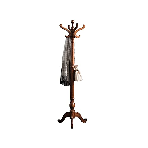 LICHUAN Perchero de estilo europeo, percha de madera, para colgar sombreros, para pasillo o entrada, soporte de 73 pulgadas, fácil montaje (color: B)
