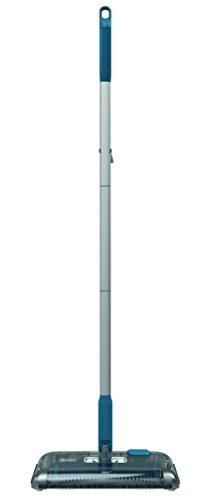 Black+Decker PSA115B-QW 3.6V, 1.5Ah Lithium Akku-Kehrbesen, Laufzeit 30 min, für kurzflorigen Teppiche und Hartböden, kabellos, beutelos, aufladbar, weiss, PSA115B, Acrylic, 300 milliliters, Blau - 3