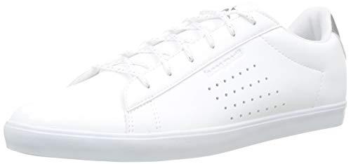 Le Coq Sportif Agate Premium, Baskets Femmes, Blanc Optical White/Old Silver, 40 EU