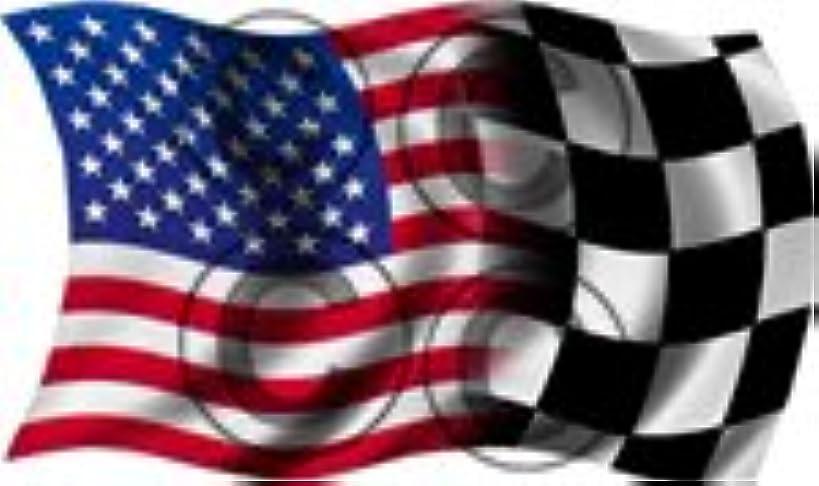 Yellow Dog American - Racing Blended Wavy Waving Flag Sticker - 9