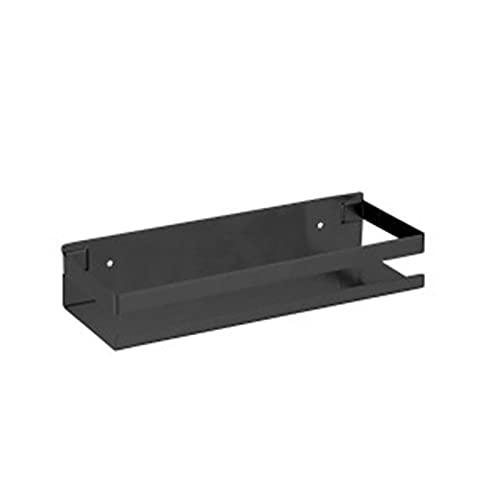 XuuSHA Soportes de baño Accesorios de Hardware de baño de 20-50 cm, estantes de Esquina de baño Negro, Estante de Pared de Cocina, Estante de Almacenamiento de Ducha Organizador de baño