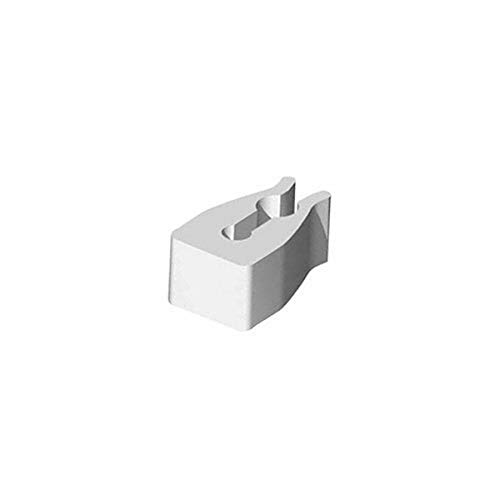 Black Azar 800014-BLK 4-Inch Glass-Filled Nylon Pegboard Scan Hook 50-Pack