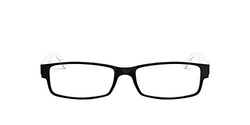 RX5114 Rectangular Eyeglass Frames, Black/White/Demo Lens, 52 mm
