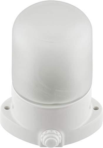 Opbouwlamp keramiek E27 IP54 met glazen koepel - porselein buitenlamp