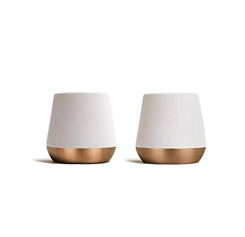 Fellow Junior Demitasse Double Wall Ceramic Mugs (Matte White, 2.3oz, Set...