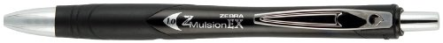 Zebra Z-Mulsion EX Emulsion Retractable Ballpoint Pen, 1.0mm, Black