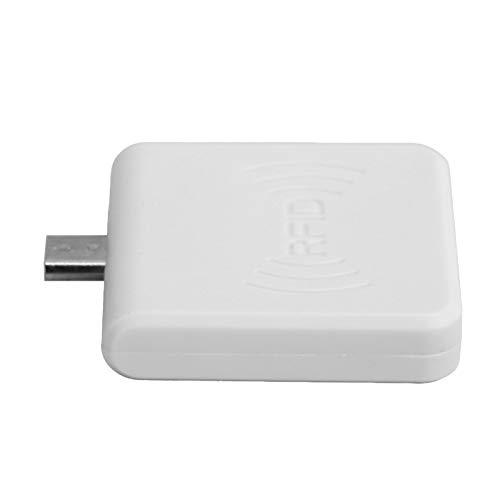ciciglow Lector RFID móvil USB, teléfono móvil OTG Lector de Tarjetas portátil USB Interfaz Micro USB UHF RFID Escritor de Mano(Blanco)
