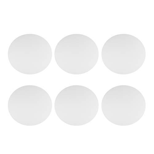 HEALLILY 6 unidades de 25 cm de lienzo para pintar, paneles redondos para pintar, lienzo con marco para manualidades, pintura acrílica, óleo, pintura blanca