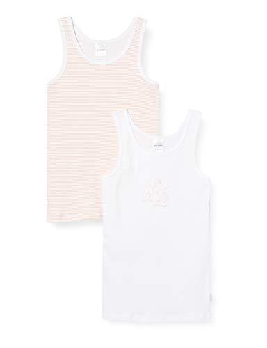 Schiesser Mädchen Unterhemd, Mehrfarbig (Sortiert), 104 (2er Pack)