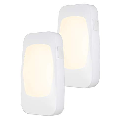 Energizer 4-in-1 LED Power Failure Night Light 2 Pack, Dusk-to-Dawn Sensor, Foldable Plug, Emergency Flashlight, Tabletop, Snow, Hurricane, Storm, Blackout, White, 46473, 2