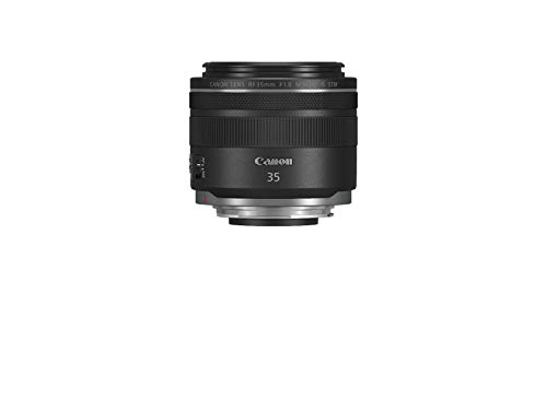Canon - Objetivo RF 35mm f/1,8 Macro IS STM (Abertura f/1,8, Anillo de Control del Objetivo, Abertura de 9 Hojas, ampliación de 0,5X, Motor STM silencioso, IS híbrido) Negro