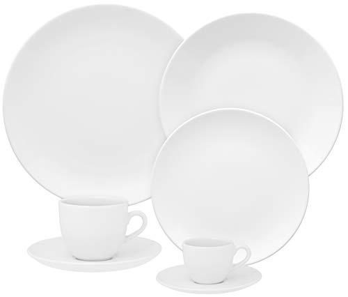 1 Aparelho De Jantar/chá/cafezinho 42 Peças Coup White - Em42-4812 Oxford Branco