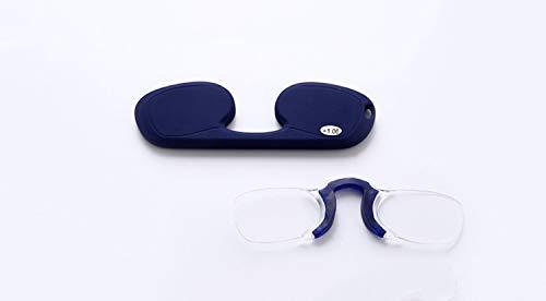 GHzzY leesbril, zonder smalle montuur voor dames en heren, draagbare neusbrug met mini-zakje (2 stuks)