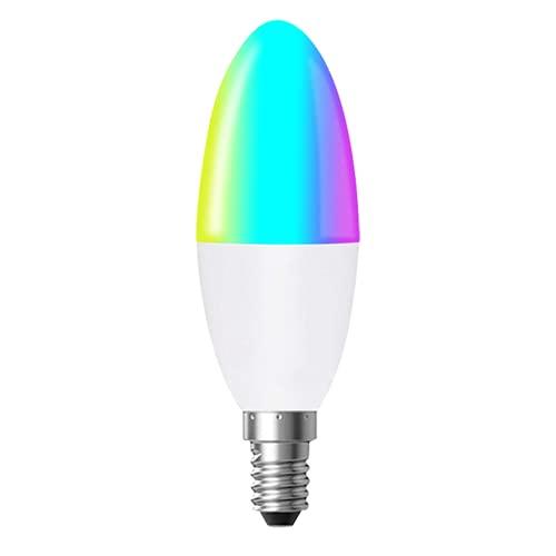 Tuya Zigbee 3 0 Inteligente E14 Led Luz de Vela Rgb Cw Regulable Bombilla Iluminación Decoración Luces Coloridas Adecuado para Dormitorio Familiar Sala de Estar Estudio