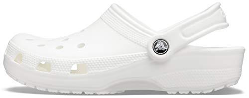 Crocs Classic, Zuecos Unisex Adulto, Blanco (White), 38/39 EU