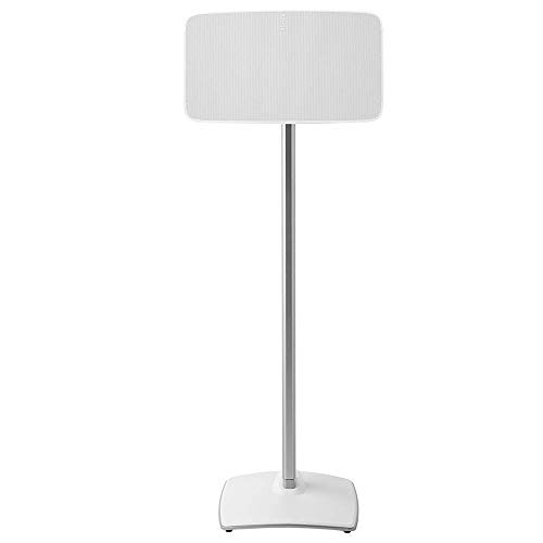 Sanus Wireless Speaker Stand for Sonos Five and Sonos Play:5 - Audio Enhancing Design for Vertical & Horizontal Audio with Built-in Cable Management & Premium Alloy Materials - WSS51 (White)