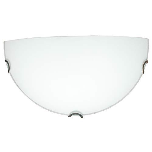 Lámpara de pared para interior E27 – Aplique plafón redondo media luna – IP20 – Plafón de diseño moderno blanco – Iluminación interior (32 x 16 cm)