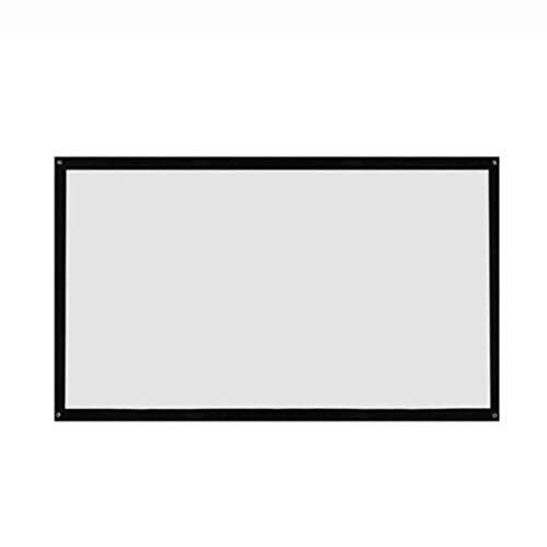 Dailyinshop® 16: 9 Pantalla de proyector Plegable portátil Montado en la Pared Home Cinema Theater 3D HD Pantalla de proyección Lienzo