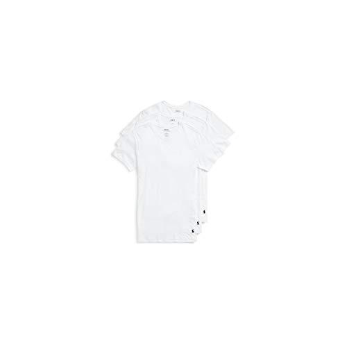 Polo Ralph Lauren 3 Pack Hommes T-Shirts, col Rond, Demi Manches, Coton - Blanc: : Medium