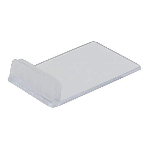 SECURIT Support Acrylique pour Ardoise Tag - Transparent. Pack de 10. Tags Non Inclus