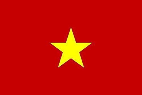 U24 Aufkleber Vietnam Flagge Fahne 8 x 5 cm Autoaufkleber Sticker