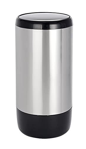 WENKO Schwingdeckeleimer Loft - Abfallbehälter mit Schwingdeckel Fassungsvermögen: 30 l, Edelstahl rostfrei, 29 x 59 x 29 cm, Satiniert