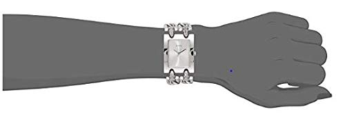GUESS Women's Silver-Tone Multi-Chain Bracelet Watch with Self-Adjustable Links. Color: Silver-Tone (Model: U1117L1)
