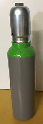 HTD Botella de acero de 5 litros, 300 bares, con válvula G5/8', conexión de aire comprimido según DIN, tapa protectora