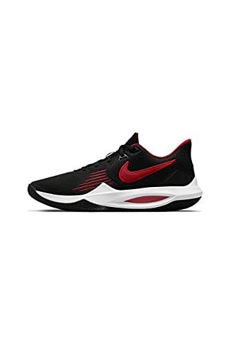 NIKE Heren Precision V Sneaker, Black University Rood Wit, 47 EU