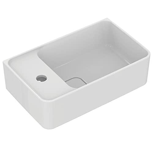 Ideal Standard T299501 Solido Handwaschbecken Strada II, weiß-Alpin, Hahnloch Links