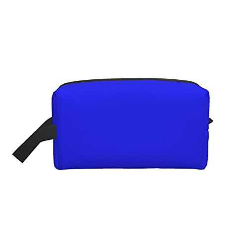 Bolsa de maquillaje de moda cosmética bolsa de viaje azul brillante eléctrico...
